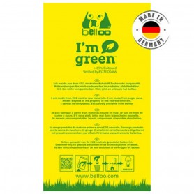 Sachets à déjection canine I'm Green jaune