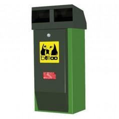 Corbeille pour déchets canins belloo-combi-luca-inox vert