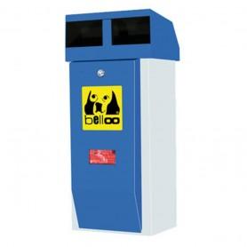 Corbeille pour déchets canins belloo-combi-luca-inox bleu