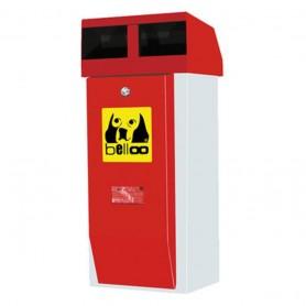 Corbeille pour déchets canins belloo-combi-luca-inox rouge