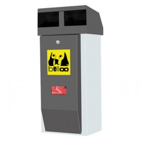 Corbeille pour déchets canins belloo-combi-luca-inox anthracite