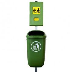 Combinaison distributeur belloo-boxx + Corbeille polyéthylène vert
