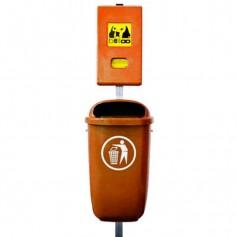 Combinaison distributeur belloo-boxx + Corbeille polyéthylène orange