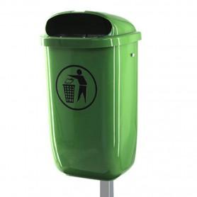 Corbeille en plastique 50l vert