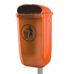 Corbeille en plastique 50l orange