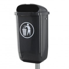 Corbeille en plastique 50l anthracite